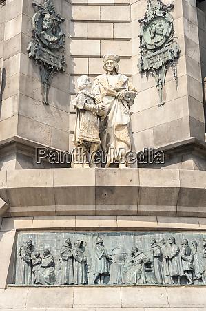 europe spain barcelona christopher columbus monument