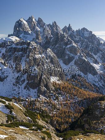 the peaks of the cadini mountain
