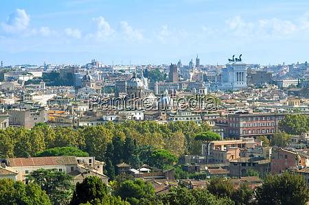 view over city from janiculum hill