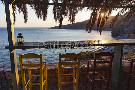 chios island greece seaside bar