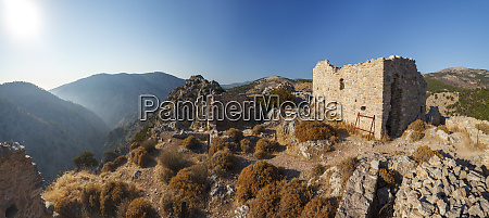 medieval and byzantine tower village of