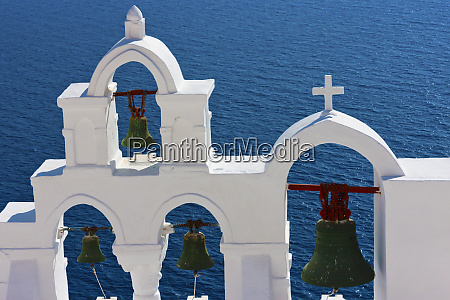 church bell tower on the coast
