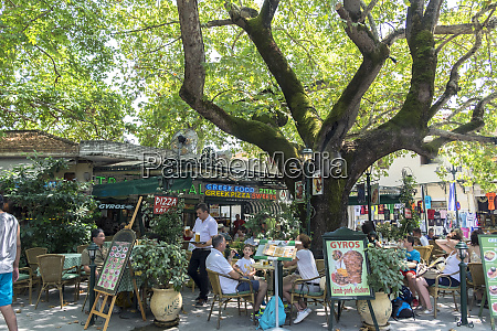 griechisches open air restaurant olympia griechenland