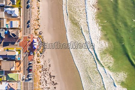 aerial view of melkbosstrand beach during