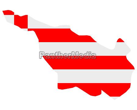 fahne in landkarte von bremen