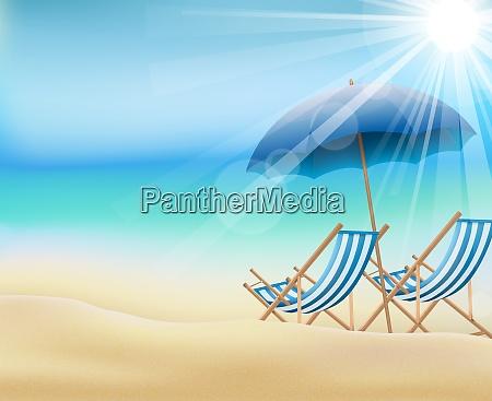 tagsueber sommerhintergrund am strand