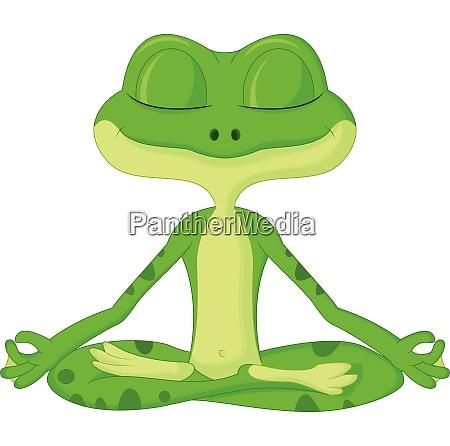 frosch cartoon tun yoga