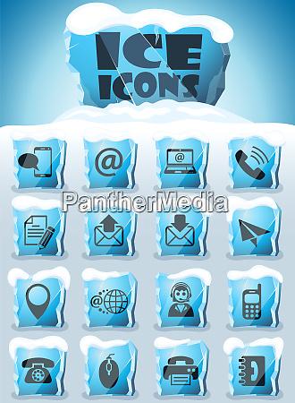 kontaktieren sie uns icon set