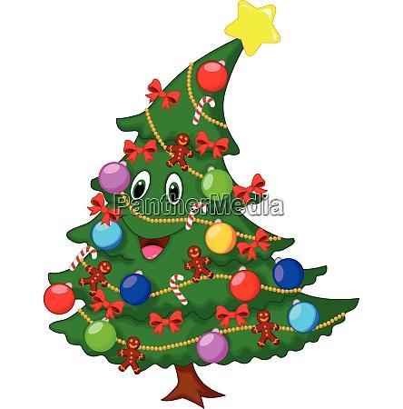 weihnachtsbaum cartoon charakter