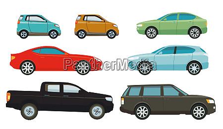 autos limousinen und suvs illustration