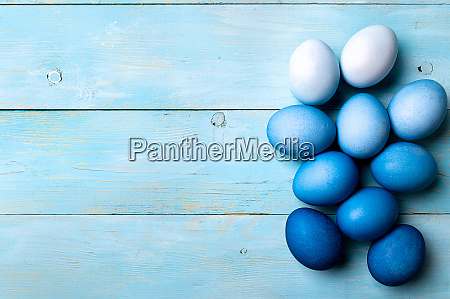 blue ombre eggs as easter 2020