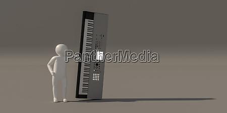 3d illustrator gruppe von karriere musiker