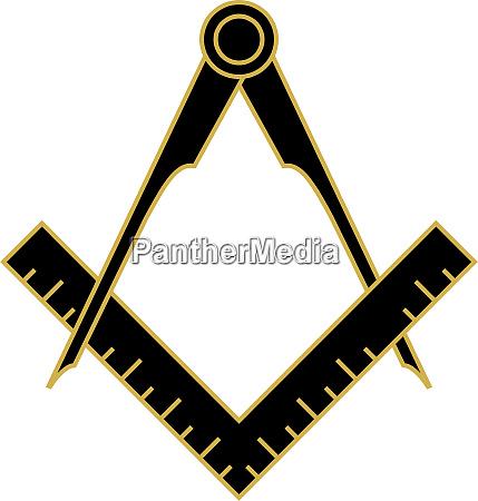 quadrat und kompass freimaurer okkultismus schwarz