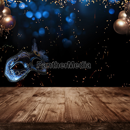 carnival background with venetian mask