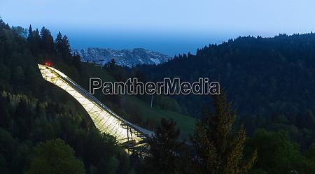 skisprung von garmisch partenkirchen bayern deutschland
