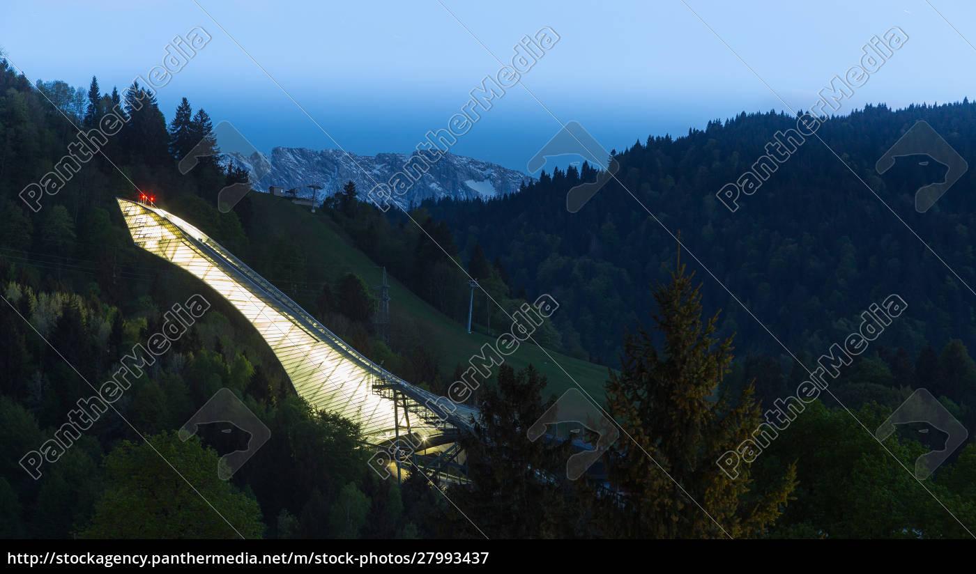 skisprung, von, garmisch-partenkirchen, bayern, deutschland - 27993437