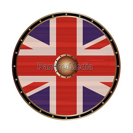 round shield mit der union jack