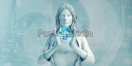 senior business woman mit digitalen loesungen