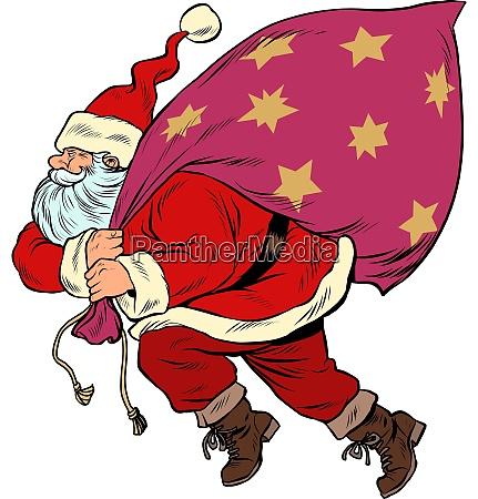 weihnachtsmann, mit, einer, tüte, geschenke., pop-art - 27997915