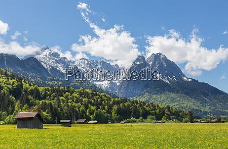 alpenpanorama, garmisch-partenkirchen, bayern, deutschland - 28001931