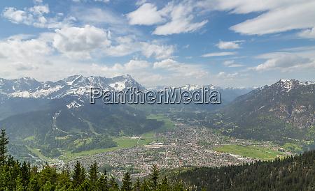 alps, panorama, with, garmisch-partenkirchen, bavaria, germany - 28001876