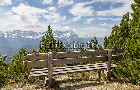 alps, panorama, with, seat, garmisch-partenkirchen, bavaria - 28001875