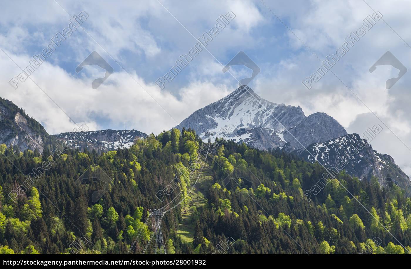 alpspitze, garmisch-partenkirchen, bavaria, germany - 28001932