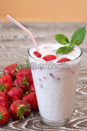 strawberry milkshake with fruits