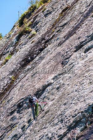 bergsteiger im nationalpark