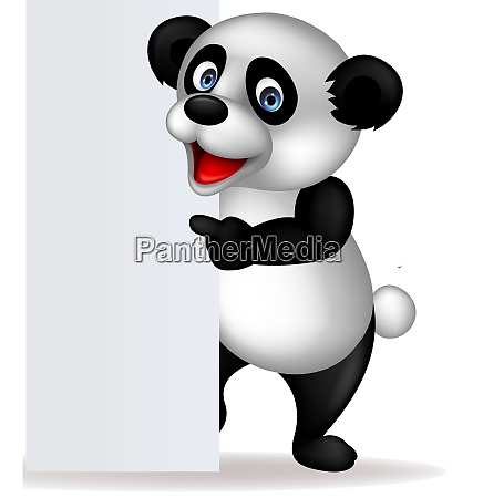 panda und leeres zeichen
