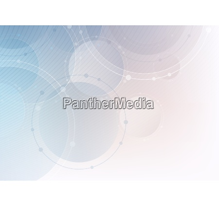 abstract technology background with circles and