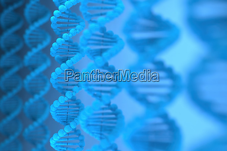 3d rendering der dna struktur desoxyribonukleinsaeure