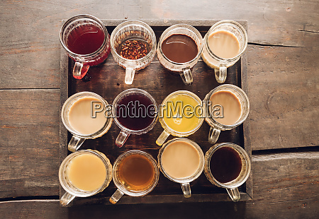kaffee serviert auf cofee plantage bali