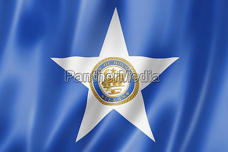 houston stadtflagge texas usa