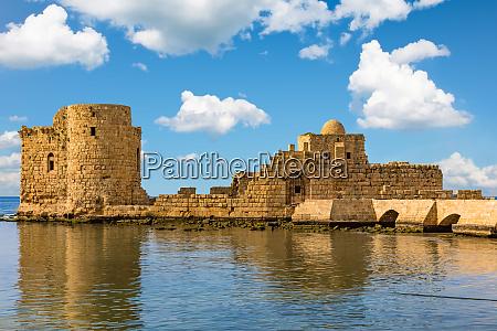 crusaders sea castle sidon saida suedlibanon
