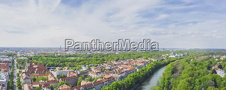 deutschland bayern muenchen panorama der isar