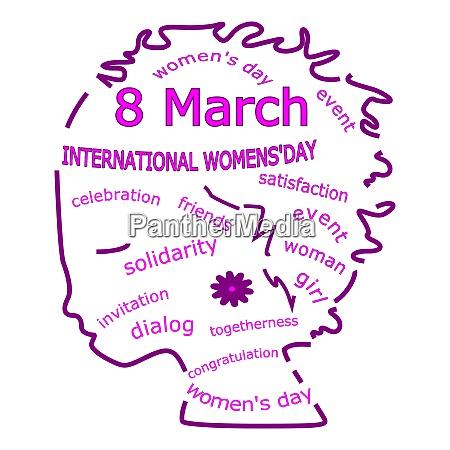 internationaler frauentag wordcloud 8 maerz