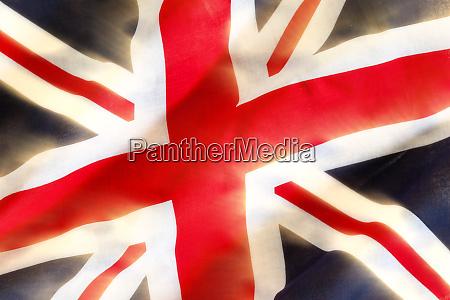 union jack flagge winkend im wind