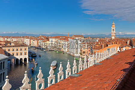 view over venice on grand canal