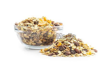 gesundes muesli fruehstueck gemischtes muesli