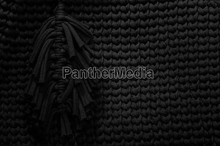 grunge nahaufnahme foto von gestrickten schwarzen