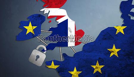 brexit konzept grossbritannien verlaesst die