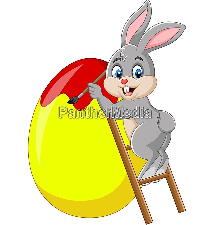 osterhase malt ein ei