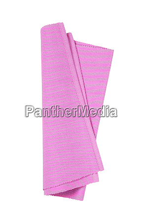 rosa gewebte baumwolle plamats