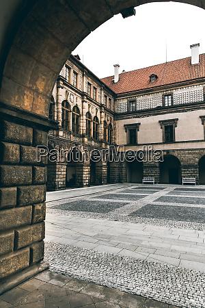 alter, steinerner, burghof, niemand, europa - 28082671