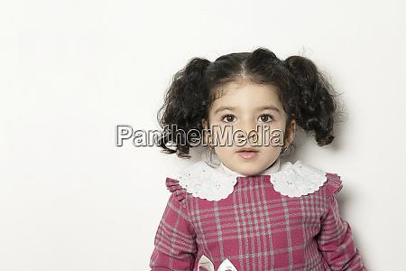 nahaufnahme, porträt, eines, kleinen, mädchens, mit - 28095417