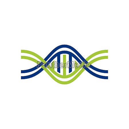dna vektor logo design vorlage genetics