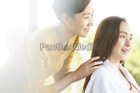 woman beauty beauty salon