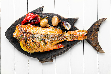 baked red perch