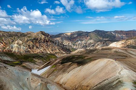 vulkanische berge von landmannalaugar in fjallabak